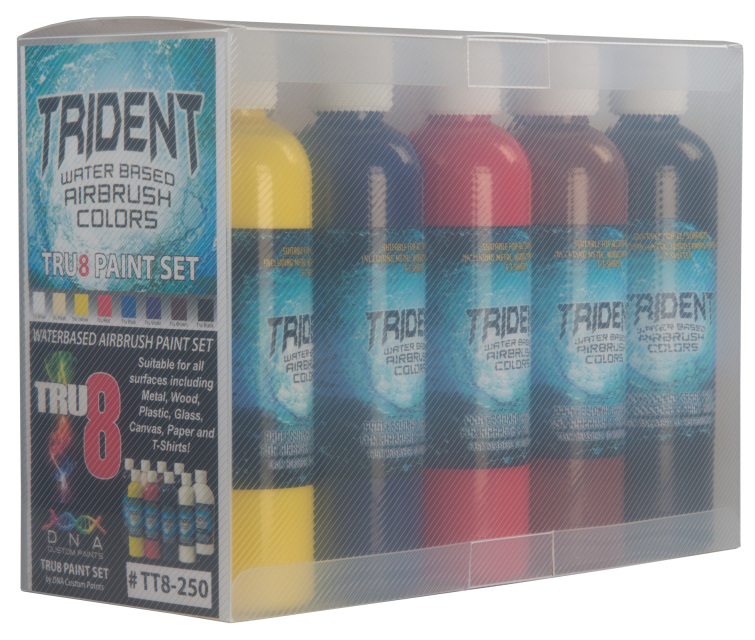 Tru Online Courses >> Tru8 Trident Airbrush Paint Set (10ml, 50ml & 250ml Sets)