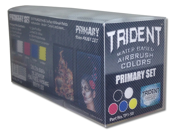 Tru Online Courses >> TP1 Trident Primary Airbrush Paint Set (10ml & 50ml)